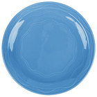 Syracuse China 903032003 Cantina 7 1/4 inch Blueberry Carved Round Porcelain Plate - 12/Case
