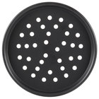 American Metalcraft PHC2012 12 inch x 1/2 inch Perforated Hard Coat Anodized Aluminum Tapered / Nesting Pizza Pan