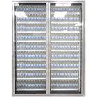 Styleline ML2675-LT MOD//Line 26 inch x 75 inch Modular Walk-In Freezer Merchandiser Doors with Shelving - Bright Silver Smooth, Right Hinge - 2/Set