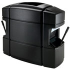 Commercial Zone 758701 40 Gallon Islander Series Waste 'N Wipe Black Waste Container with 2 Paper Towel Dispensers, 2 Squeegees, and 2 Windshield Wash Stations