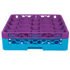 Carlisle RW20-C414 OptiClean NeWave 20 Compartment Lavender Color-Coded Glass Rack with 1 Integrated Extender
