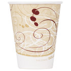 Dart Solo IC8-J8000 Duo Shield Symphony 8 oz. Poly Paper Hot Cup - 1000/Case