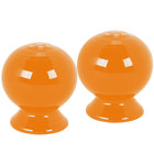 Homer Laughlin 497325 Fiesta Tangerine Salt and Pepper Set - 4/Case
