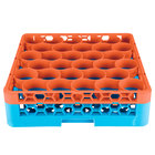 Carlisle RW30-C412 OptiClean NeWave 30 Compartment Orange Color-Coded Glass Rack with 1 Integrated Extender