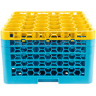Carlisle RW30-4C411 OptiClean NeWave 30 Compartment Yellow Color-Coded Glass Rack with 5 Extenders