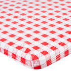 Creative Converting 37488 Stay Put 29 inch x 72 inch Red Gingham Plastic Table Cover - 12/Case
