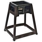 Koala Kare KB866-02 KidSitter Brown Assembled Convertible Plastic High Chair with Black Seat