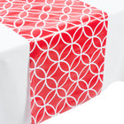 Creative Converting 317331 14 inch x 84 inch Classic Red and White Plastic Table Runner - 12/Case