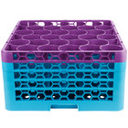 Carlisle RW30-3C414 OptiClean NeWave 30 Compartment Lavender Color-Coded Glass Rack with 4 Extenders