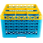 Carlisle RG9-5C411 OptiClean 9 Compartment Yellow Color-Coded Glass Rack with 5 Extenders