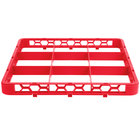 Carlisle RE9C05 OptiClean 9 Compartment Red Color-Coded Glass Rack Extender