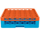 Carlisle RG36-1C412 OptiClean 36 Compartment Orange Color-Coded Glass Rack with 1 Extender