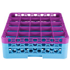 Carlisle RG25-2C414 OptiClean 25 Compartment Lavender Color-Coded Glass Rack with 2 Extenders