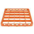 Carlisle RE25C24 OptiClean 25 Compartment Orange Color-Coded Glass Rack Extender
