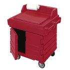 Cambro KWS40158 Hot Red CamKiosk Food Preparation / Counter Work Station Cart