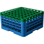 Carlisle RG49-4C413 OptiClean 49 Compartment Green Color-Coded Glass Rack with 4 Extenders