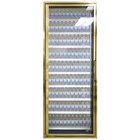 Styleline CL2472-LT Classic Plus 24 inch x 72 inch Walk-In Freezer Merchandiser Door with Shelving - Anodized Bright Gold, Left Hinge