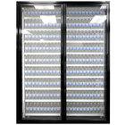 Styleline CL3080-HH 20//20 Plus 30 inch x 80 inch Walk-In Cooler Merchandiser Doors with Shelving - Satin Black, Left Hinge - 2/Set