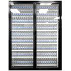 Styleline CL3080-HH 20//20 Plus 30 inch x 80 inch Walk-In Cooler Merchandiser Doors with Shelving - Satin Black, Right Hinge - 2/Set