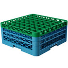 Carlisle RG49-3C413 OptiClean 49 Compartment Green Color-Coded Glass Rack with 3 Extenders