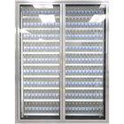 Styleline CL2472-LT Classic Plus 24 inch x 72 inch Walk-In Freezer Merchandiser Doors with Shelving - Anodized Satin Silver, Left Hinge - 2/Set