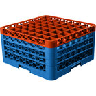 Carlisle RG49-4C412 OptiClean 49 Compartment Orange Color-Coded Glass Rack with 4 Extenders
