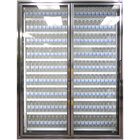 Styleline CL2472-LT Classic Plus 24 inch x 72 inch Walk-In Freezer Merchandiser Doors with Shelving - Anodized Bright Silver, Left Hinge - 2/Set
