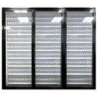 Styleline CL2472-LT Classic Plus 24 inch x 72 inch Walk-In Freezer Merchandiser Doors with Shelving - Satin Black, Left Hinge - 3/Set
