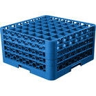 Carlisle RG49-414 OptiClean 49 Compartment Blue Glass Rack with 4 Extenders