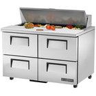 True TSSU-48-12D-4-ADA-HC 48 inch 4 Drawer ADA Height Refrigerated Sandwich Prep Table