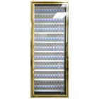 Styleline CL3072-LT Classic Plus 30 inch x 72 inch Walk-In Freezer Merchandiser Door with Shelving - Anodized Bright Gold, Left Hinge