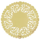 6 inch Gold Foil Lace Doily - 1000/Case