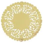 6 inch Gold Foil Lace Doily - 1000/Case