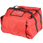 ServIt Insulated Pizza Delivery Bag, Red Soft-Sided Heavy-Duty Nylon, 16 inch x 16 inch x 13 inch - Holds Up To (6) 12 inch or 14 inch Pizza Boxes