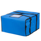 Choice Insulated Pizza Delivery Bag, Blue Nylon, 20 inch x 20 inch x 12 inch - Holds Up To (6) 16 inch, (5) 18 inch, or (4) 20 inch Pizza Boxes