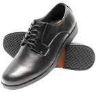 Genuine Grip 9540 Men's Size 10.5 Wide Width Black Oxford Non Slip Dress Shoe