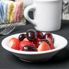 Acopa 5 oz. Bright White Rolled Edge Stoneware Fruit Bowl / Monkey Dish - 36/Case