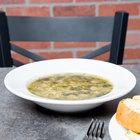 Acopa 10 oz. Bright White Wide Rim Rolled Edge Rim Stoneware Soup and Pasta Bowl - 24/Case