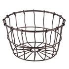 American Metalcraft WBBM Bronze Round Wire Basket - 7 inch x 4 1/4 inch
