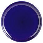 Tuxton BCA-1315 13 1/8 inch Cobalt Blue China Pizza Serving Plate - 6/Case
