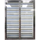 Styleline CL3080-LT Classic Plus 30 inch x 80 inch Walk-In Freezer Merchandiser Doors with Shelving - Anodized Bright Silver, Right Hinge - 2/Set