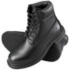 Genuine Grip 7161 Men's Size 8 Wide Width Black Waterproof Steel Toe Non Slip Leather Boot