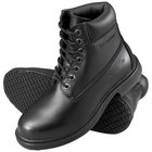 Genuine Grip 7161 Men's Size 9 Wide Width Black Waterproof Steel Toe Non Slip Leather Boot