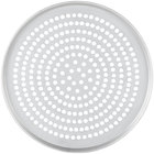 American Metalcraft SPT2012 12 inch x 1/2 inch Super Perforated Tin-Plated Steel Tapered / Nesting Pizza Pan