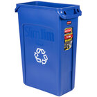 Rubbermaid FG354007BLUE Slim Jim 23 Gallon Blue Recycling Bin