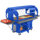Cambro VBRU5186 Navy Blue 5' Versa Ultra Food / Salad Bar with Storage and Standard Casters