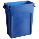 Rubbermaid 1971257 Slim Jim 64 Qt. / 16 Gallon Blue Trash Can