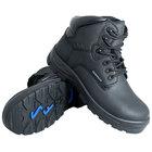 Genuine Grip 650 Poseidon Women's Size 6.5 Medium Width Black Waterproof Composite Toe Non Slip Full Grain Leather Boot