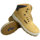 Genuine Grip 652 Poseidon Women's Size 12 Wide Width Wheat Waterproof Composite Toe Non Slip Full Grain Leather Boot