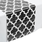 Creative Converting 317332 14 inch x 84 inch Black and White Plastic Table Runner